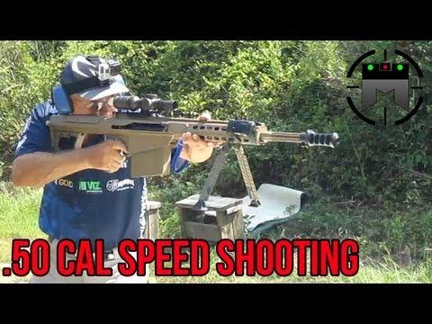 BARRETT .50 CAL WORLD RECORD 6 SHOTS IN 1 SECOND! (M82 M107) Jerry Miculek