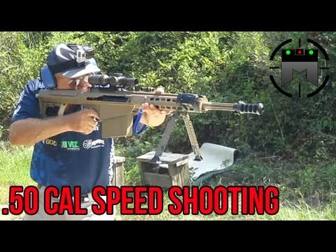 BARRETT .50 CAL WORLD RECORD 6 SHOTS IN 1 SECOND! (M82 M107) Jerry Miculek