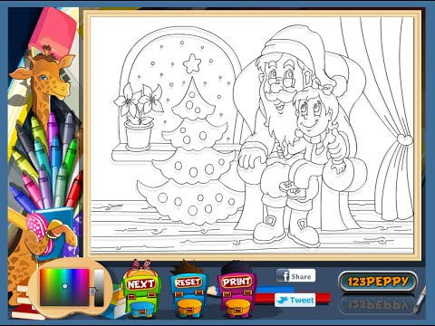 santa coloring pages for kids santa coloring pages games