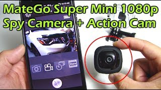 MateGo Super Mini 1080p Spy Camera  + Action Camera