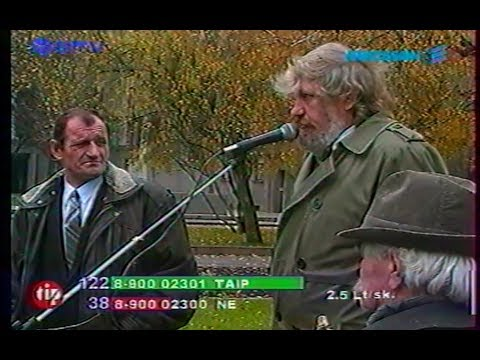 427*Post Soviet Lithuania-World [1999] part6*V.Šustausko skandalai