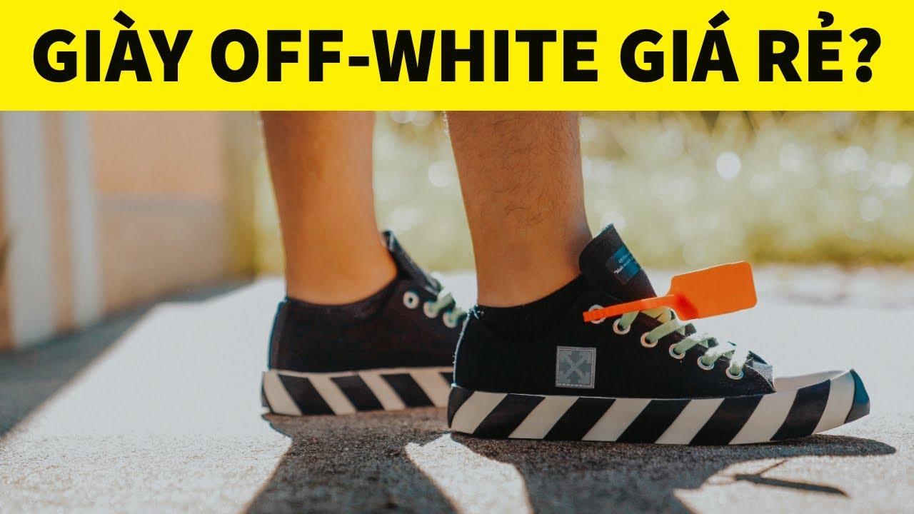 Đập Hộp + Đánh giá + On Feet đôi Off–White Vulcanized Low – Hung Dinh