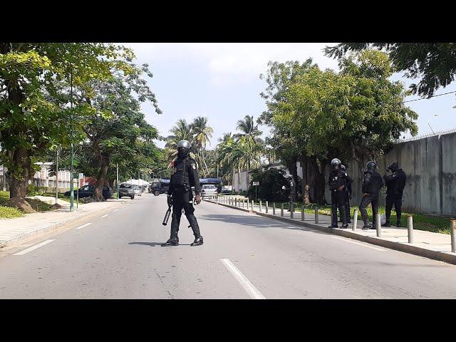 La police au domicile du président de la CNT Henri Konan Bédié