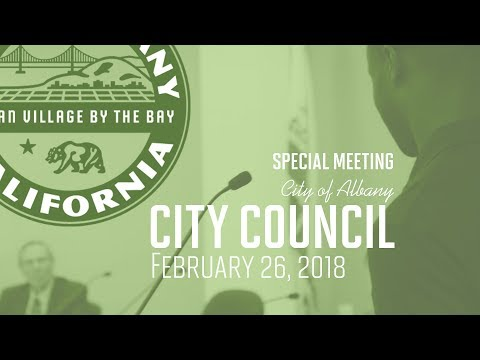 Albany City Council - Feb 26, 2018 Special Meeting