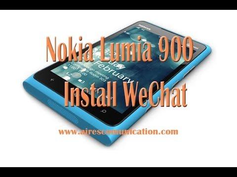 Nokia Lumia 900 installing we Chat messenger