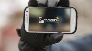 How to turn every glove into a touchscreen glove with NANOTIPS