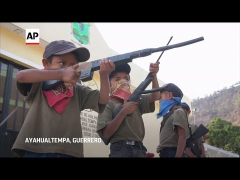 Mexico villages arm children in bid for attention