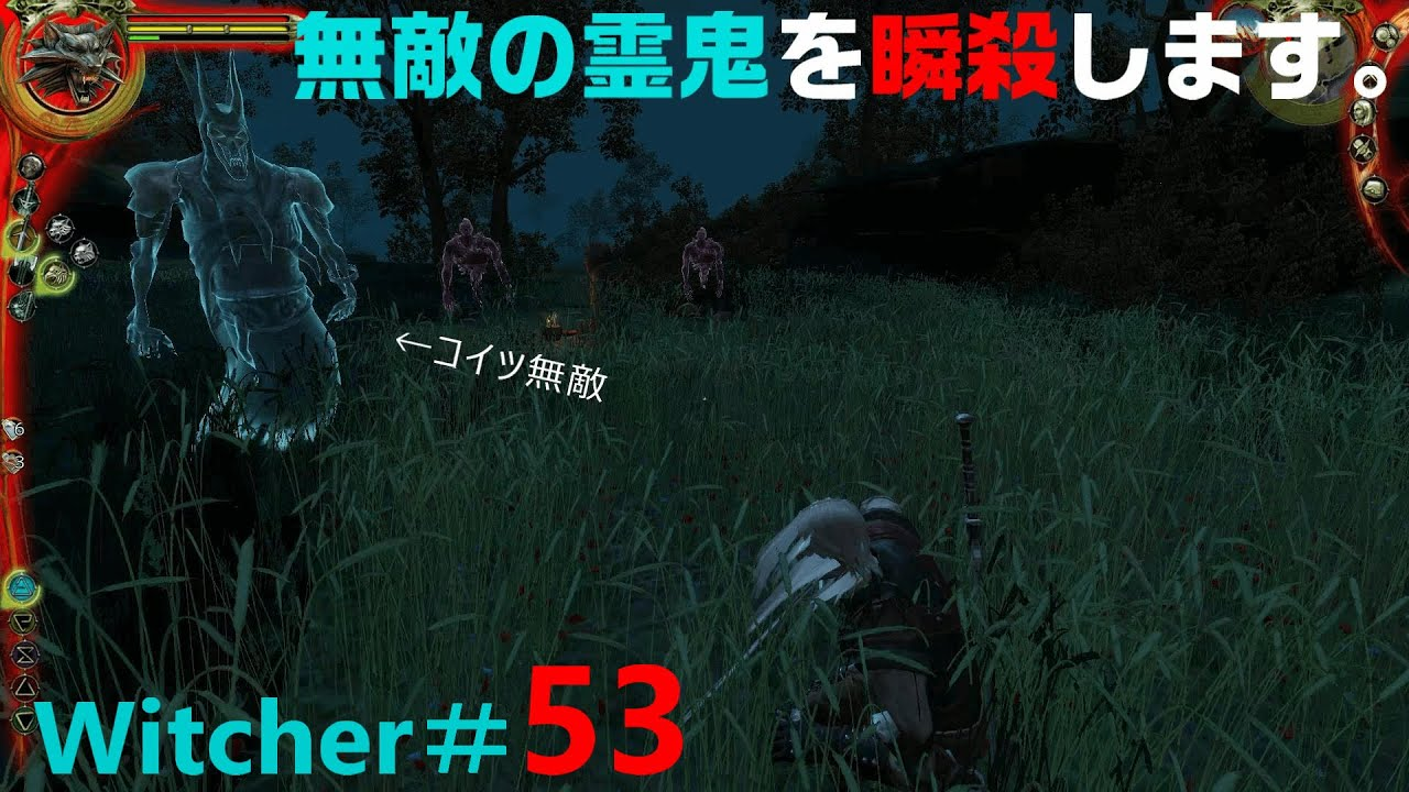 Hd Rpg 無敵の幽鬼を瞬殺します The Witcher Enhanced Edition ウィッチャー ゲーム実況 53 Youtube