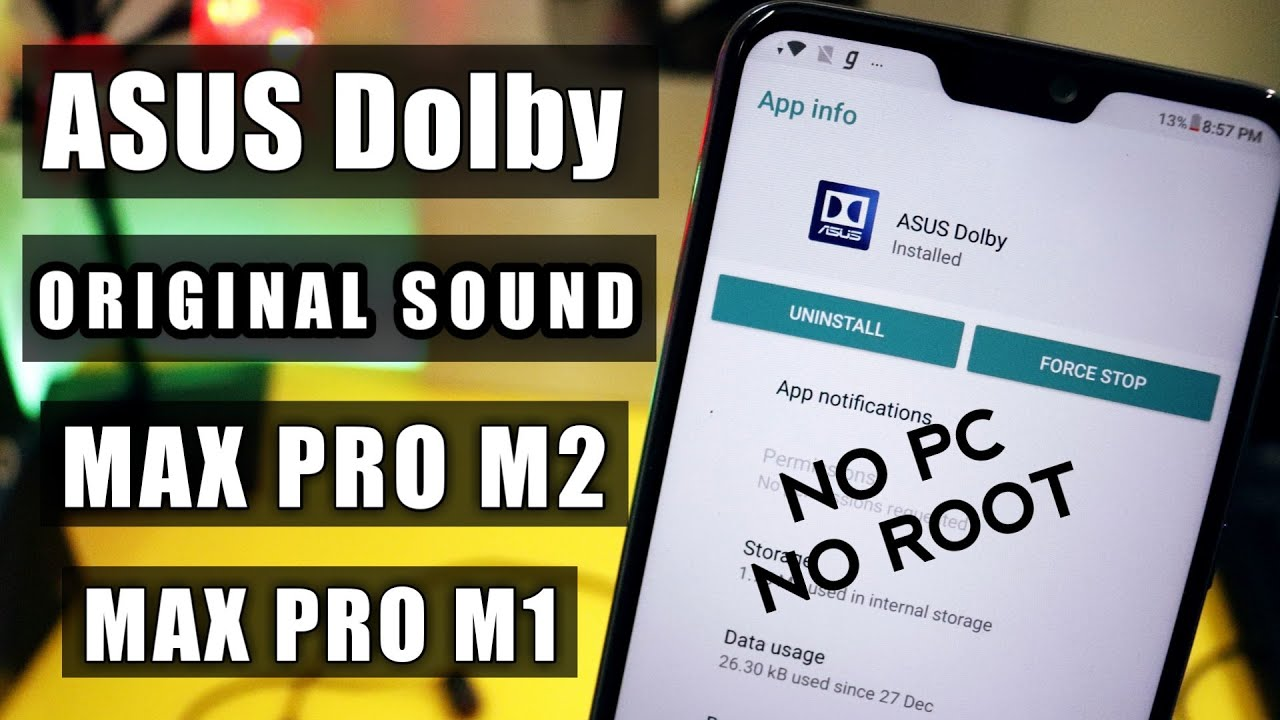 Asus Dolby Equalizer Installation On Asus Zenfone Max Pro M2 | M1 | No Root  No Pc |