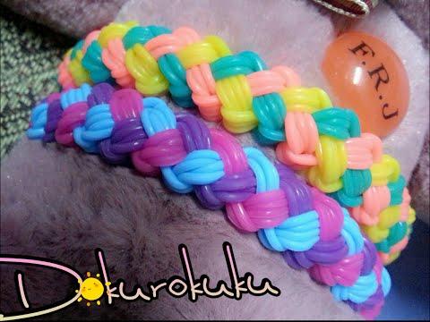 คลิปสอนถักหนังยาง สร้อยข้อมือ ลาย  เกลียวเชือก Rainbow Loom Bracelet cross x