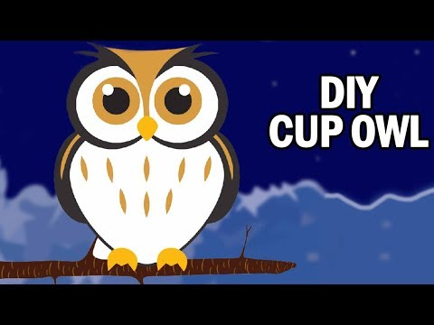 Learning Videos For Kids | How To Make A Cup Owl | Art And Craft Videos | DIY | Ultra Crafts