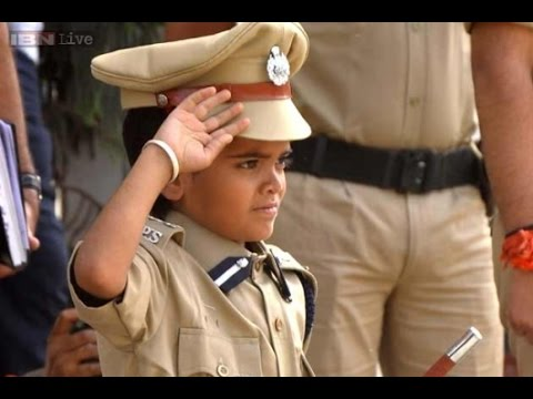 10-year old Girish becomes Jaipur Police Commissioner for a day