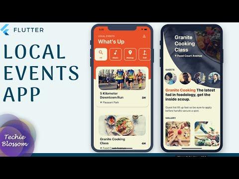 Flutter UI   Local Events App