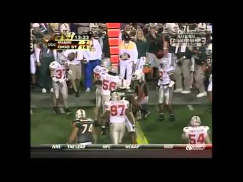 2003 Fiesta Bowl - #1 Miami vs. #2 Ohio State Highlights