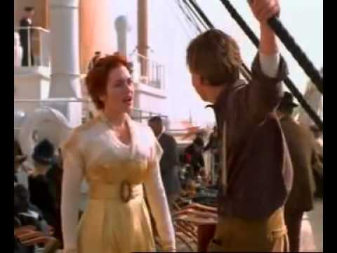 Titanic scene jack and rose talk on deck youtube - Jack and rose pics ...