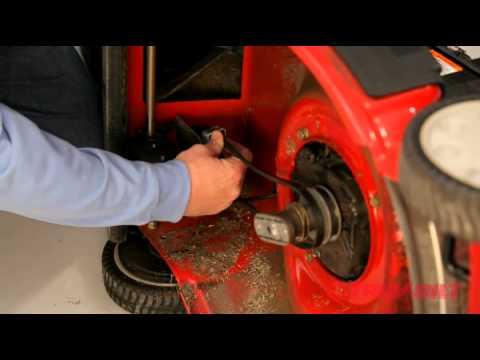 How to change the drive belt | Troy-Bilt walk-behind lawn ...
