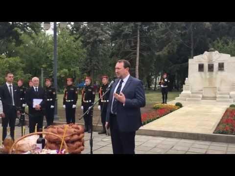 Alexandru Tănase - cuvânt la inaugurarea Monumentului celor Trei Martiri