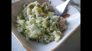 Как спасти продукты? Салат рыбный с картошкой