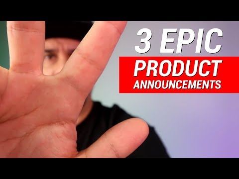 3 Epic Product Announcements - Live Q&A + Giveaway!
