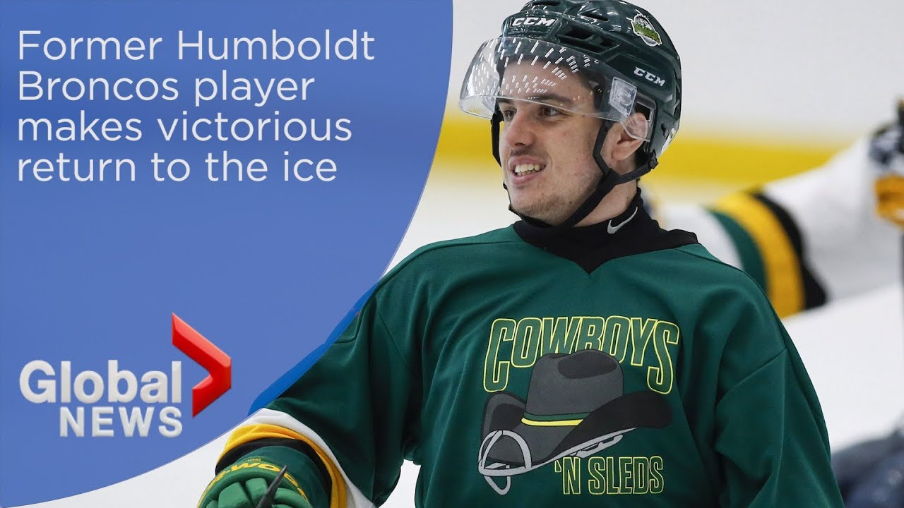 Former Humboldt Bronco makes victorious return to the ice