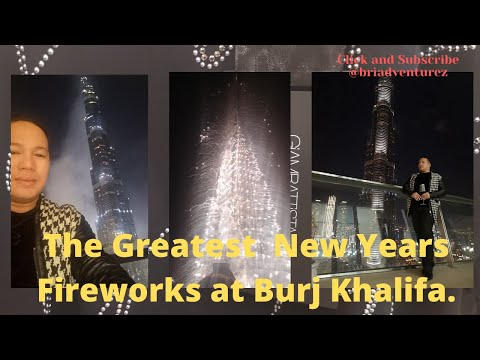 NYE Fireworks live with @briadventurez at Burj Vista, Downtown Dubai. Thank you Michael Cinco