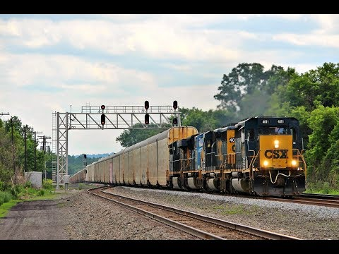 [HD] June Weekend In Upstate, NY On CSX's Mohawk Subdivision 6/16 - 6/18/17 Part 2