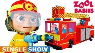 Zool Babies As Fire Fighters Single Videogyan Kids Shows  Cartoon Animation  Zool Babies Series