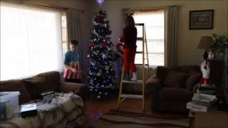 2012 Christmas Tree Decorating - Time Lapse