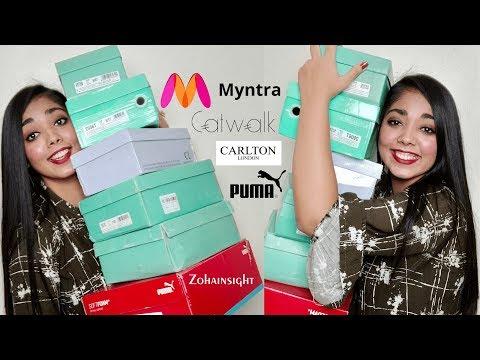Myntra Footwear Haul + Review (Catwalk, Carlton London, Puma)   Zohainsight