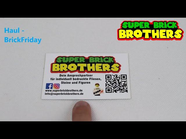 Einkauf beim besten Teiledrucker Super Brick Brothers -großartiger Brickfriday Haul