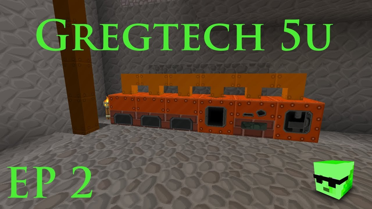 GregTech 5u EP2 - Steam age - Coal Boiler, Forge Hammer & Alloy Smelter  (Minecraft 1 7 10) 2018
