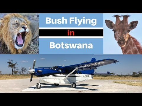 Bush Flying in Africa over the Okavango Delta
