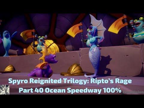 Spyro Reignited Trilogy: Ripto's Rage Part 40 Ocean Speedway 100