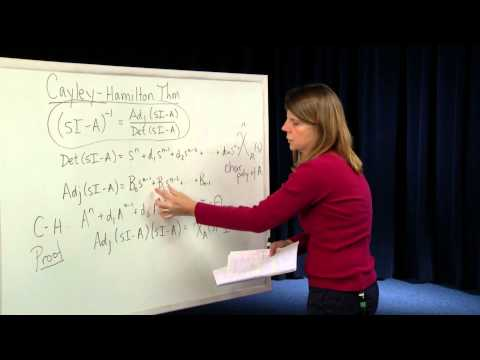 EECS - Module 22 - Cayley Hamilton Theorem