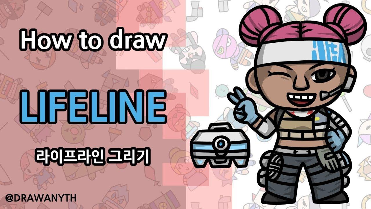 How To Draw Lifeline Apex Legends Youtube