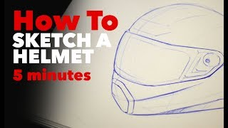 How To Sketch A Helmet In 5 Minutes | Industrial Design