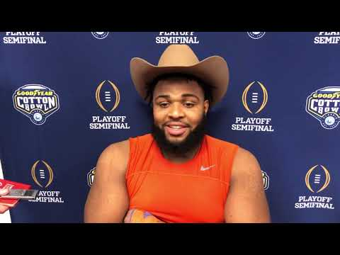 Christian Wilkins Cotton Bowl postgame 2