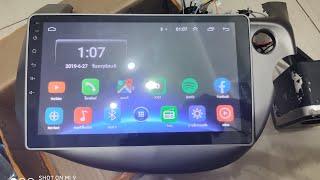 รีวิว Review 2din Android 10inch For Honda Jazz Fit.
