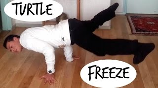Breakdance Tutorial - Turtle Freeze: How to get your legs off the ground