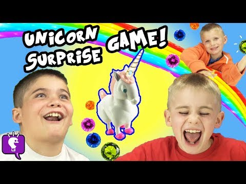 UNICORN SURPRISE Game with Lucky Charms Cereal! Marsh-Mallow Fun by HobbyKidsTV