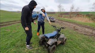 Am mers cu ATV-ul la CASUTA DIN PADURE  TIBERIU SI CORNEL.  Tiberiu a căzut cu ATV-ul