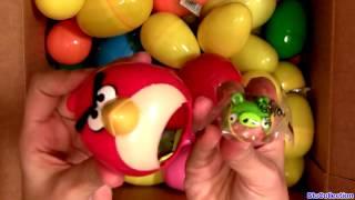 Киндер сюрприз 70 яиц ! Открываем киндеры. Surprise Eggs Angry Birds Kinder Disney Pixar Cars Marvel