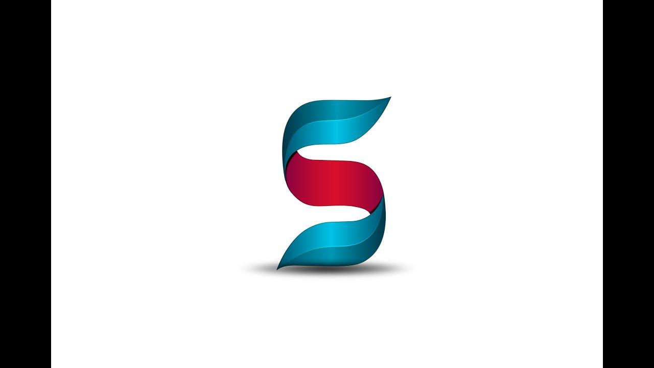 Adobe Illustrator cc 2015 | New 3D Logo Design ( Letter S ...