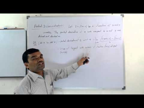 Partial Differentiation in Hindi