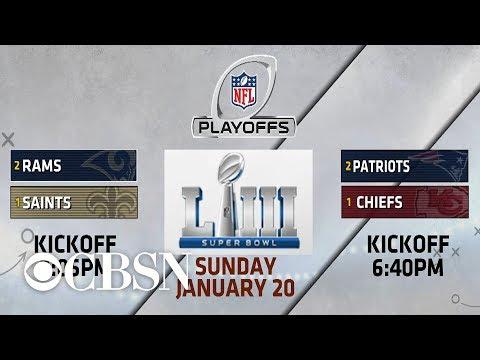 Matchups set for NFL championship weekend