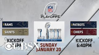 Matchups set for NFL championship weekend