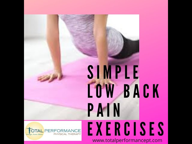 Simple low back pain exercises