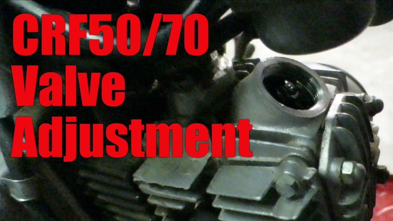 Honda CRF50 CRF70 Valve Adjustment | Back in the Garage