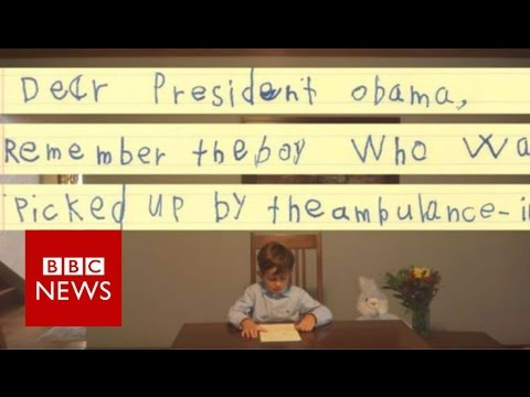 Six-year-old offers Syrian boy a family - BBC News