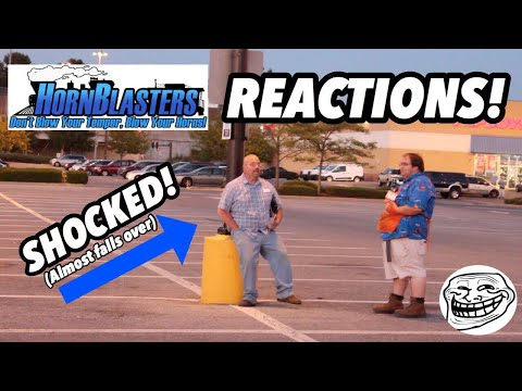 TRAIN HORN REACTION PRANKS!